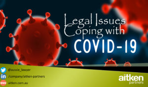 Some Legal Issues Coping with COVID-19